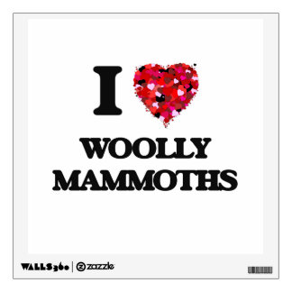 I love Woolly Mammoths Wall Skins