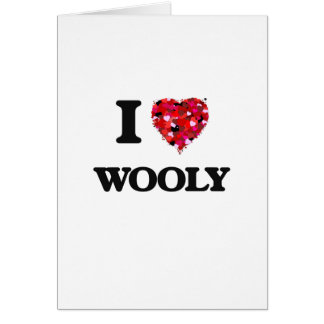 I love Wooly Greeting Card