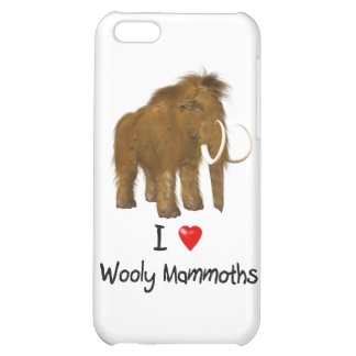 """I Love Wooly Mammoths"" Wooly Mammoth Case For iPhone 5C"