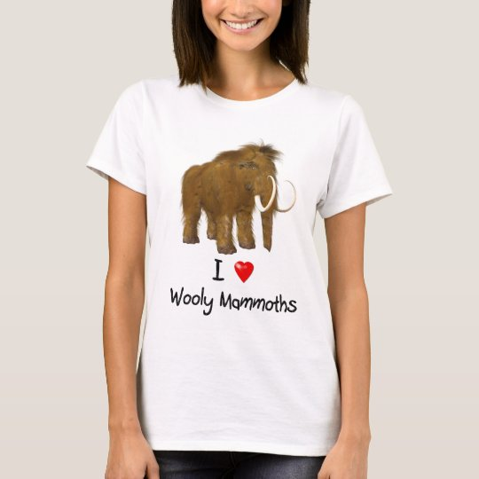 """I Love Wooly Mammoths"" Wooly Mammoth T-Shirt"