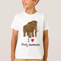 """""""I Love Wooly Mammoths"""" Wooly Mammoth T-Shirt"""