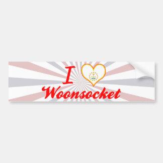 I Love Woonsocket, Rhode Island Bumper Sticker