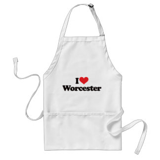 I Love Worcester Adult Apron