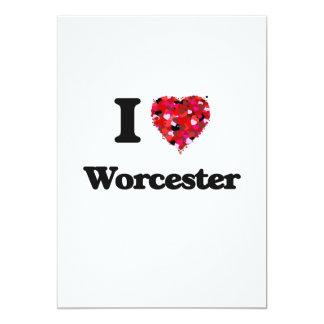 I love Worcester Massachusetts 5x7 Paper Invitation Card
