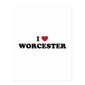 I Love Worcester Massachusetts Postcard