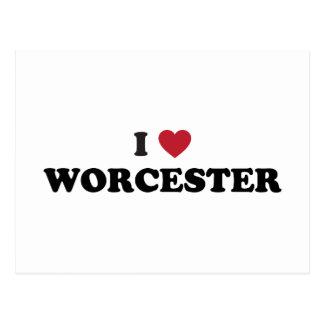 I Love Worcester Massachusetts Postcard