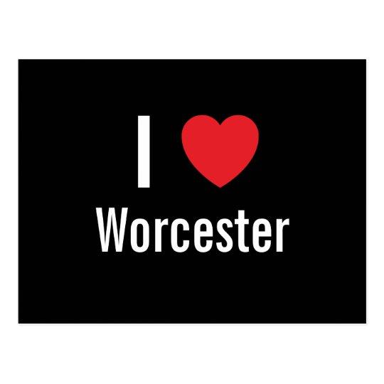 I love Worcester Postcard