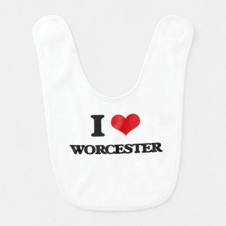 I love Worcester Baby Bib