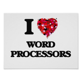 I love Word Processors Poster