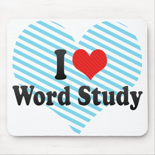 Love Word Study Mouse Pad | Zazzle