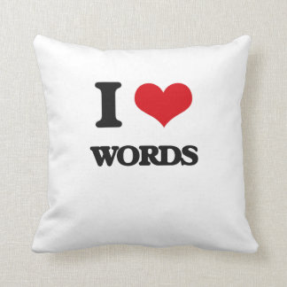 I love Words Throw Pillow