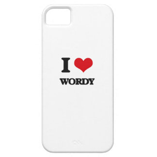 I love Wordy iPhone 5 Cover