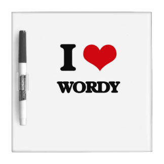 I love Wordy Dry-Erase Boards