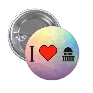 I Love Working For The Government 1 Inch Round Button