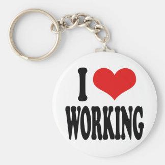 I Love Working Keychain