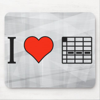 I Love Working With A Spreadsheet Mouse Pad