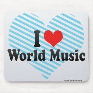 I Love World Music Mouse Pad