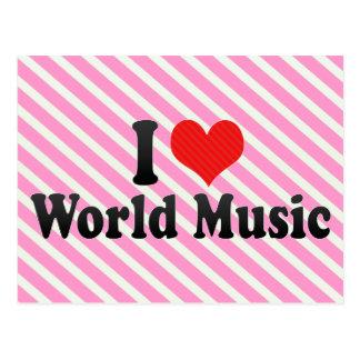I Love World Music Postcard