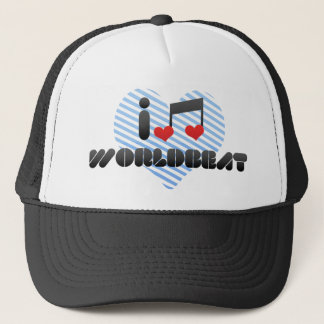I Love Worldbeat Trucker Hat