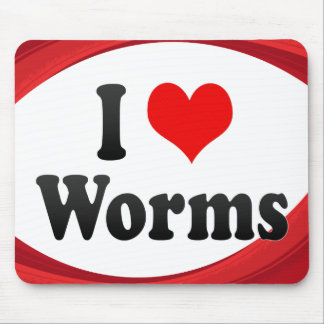 I Love Worms Germany Ich Liebe Worms Germany Mouse Pads