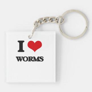 I love Worms Acrylic Key Chains