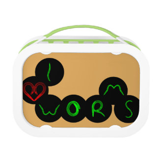 i love worms lunch box
