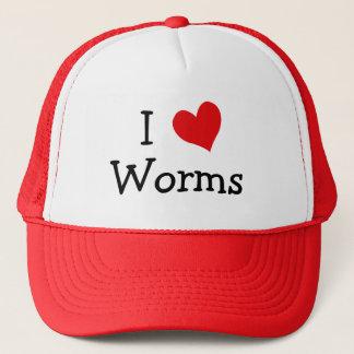 I Love Worms Trucker Hat