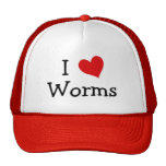 I Love Worms Trucker Hats