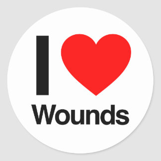i love wounds stickers