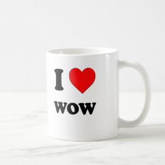 I love Wow Classic White Coffee Mug