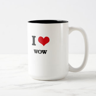 I love Wow Two-Tone Coffee Mug