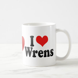I Love Wrens Coffee Mug