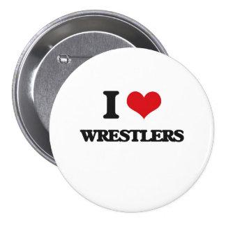 I love Wrestlers 3 Inch Round Button