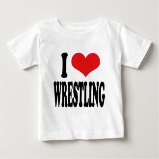 I Love Wrestling Baby T-Shirt