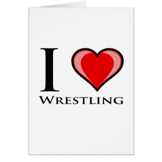 I Love Wrestling Card