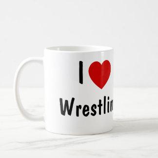 I Love Wrestling Classic White Coffee Mug