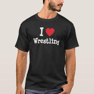 I love Wrestling heart custom personalized T-Shirt