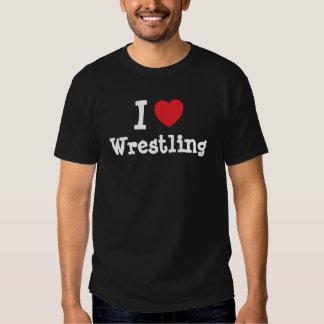 I love Wrestling heart custom personalized Tee Shirt