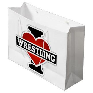I Love Wrestling Large Gift Bag