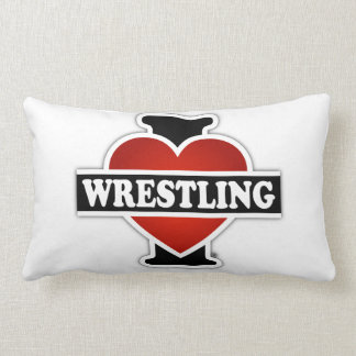 I Love Wrestling Lumbar Pillow