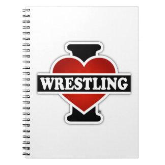 I Love Wrestling Spiral Notebooks