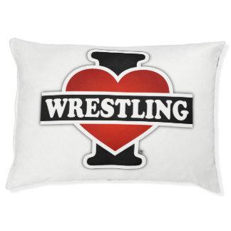 I Love Wrestling Pet Bed