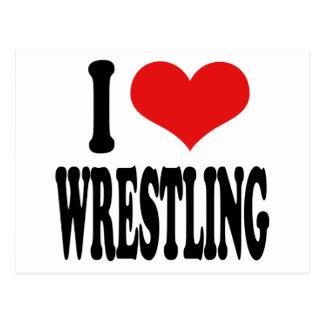 I Love Wrestling Postcard