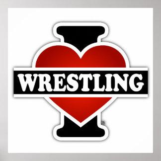 I Love Wrestling Poster