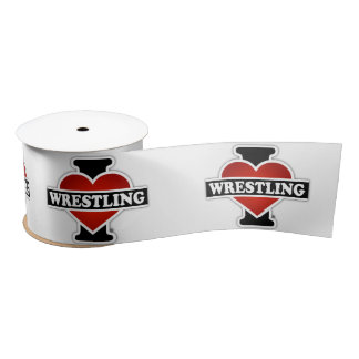 I Love Wrestling Satin Ribbon