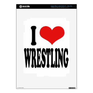 I Love Wrestling Skin For iPad 3