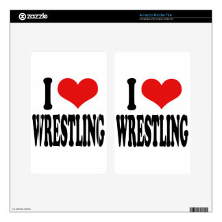 I Love Wrestling Skin For Kindle Fire