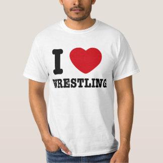 I Love Wrestling T Shirt
