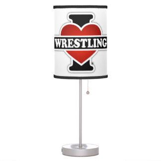 I Love Wrestling Table Lamp