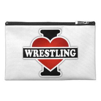 I Love Wrestling Travel Accessories Bag